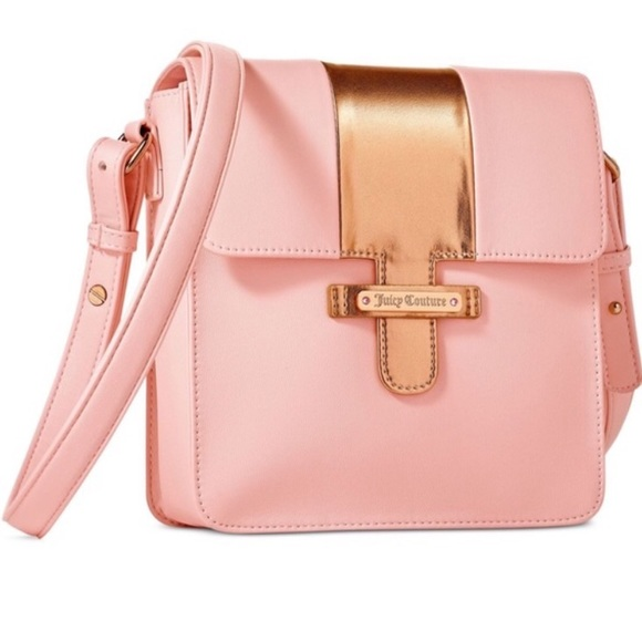NWT Juicy Couture Light Pink Rose Gold Crossbody